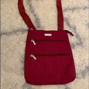 Baggallini Red Nylon Crossbody Purse Bag
